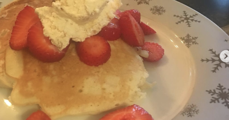 Homemade Pancakes with Ice Cream Yes!